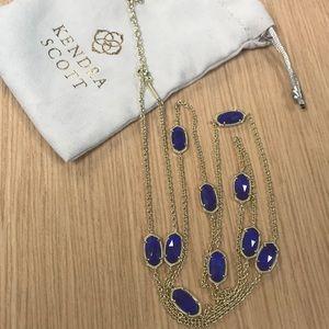 Kendra Scott Kellie necklace, Cobalt Cats Eye
